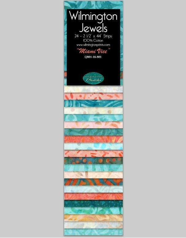 Q810-16-801 Jewels Batavian Batiks by Wilmington Prints 2.5 Strips Miami Vice