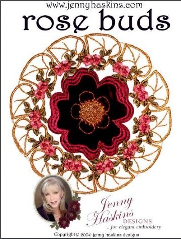 Jenny Haskins Rose Buds Embroidery Designs CD