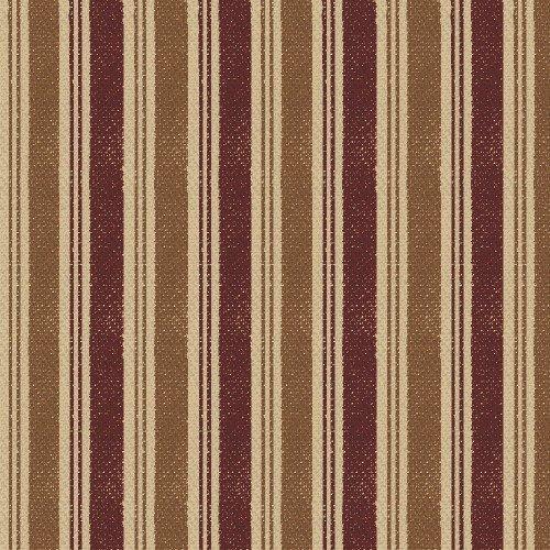 27688-1 Windham Fabrics Basics Ticking Brown/Red    *20% Savings*   (One Yard Minimum Cut)