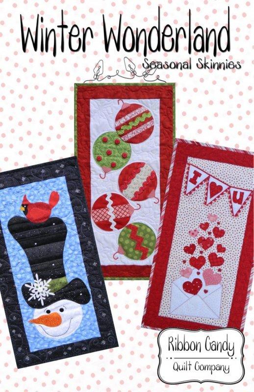 Winter Wonderland Seasonal Skinnies Pattern  by Ribbon Candy Quilt Company
