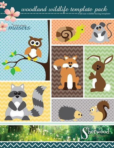 mmm pat 0090 woodland wildlife template pack from the sherwood