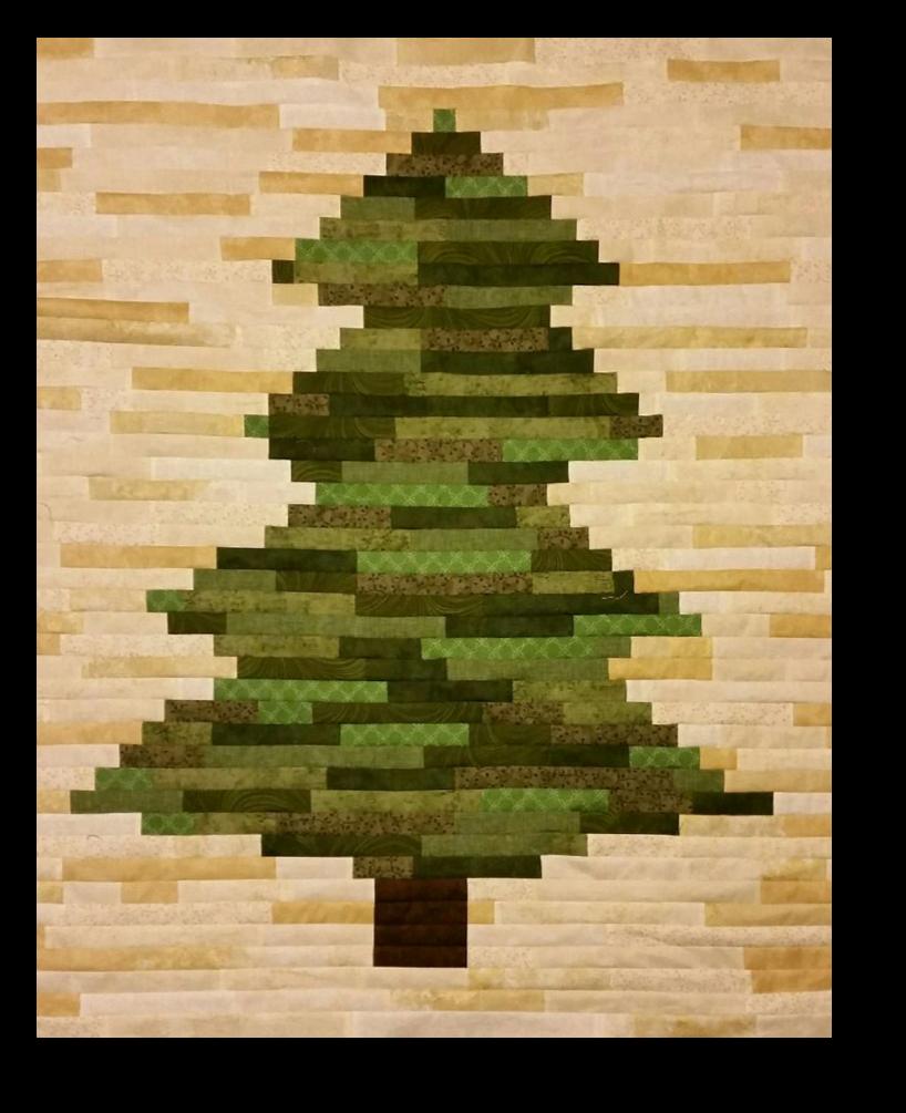 Rustic Christmas Tree Pattern