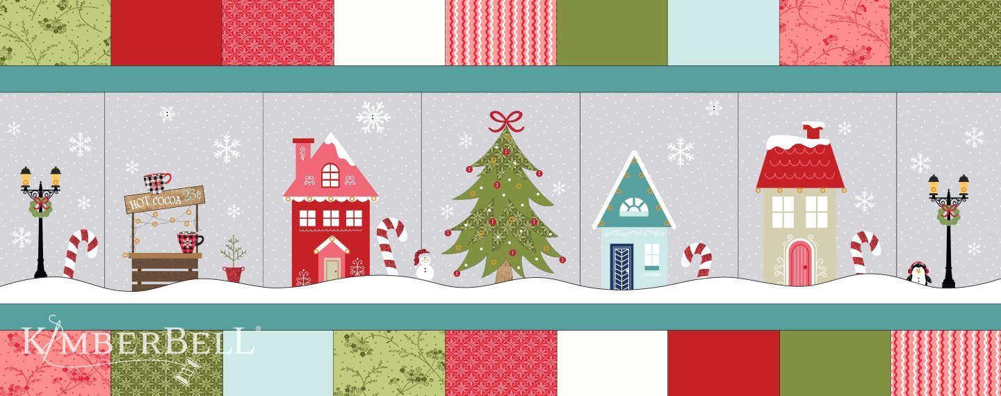 Kimberbell Candy Cane Line Bench Pillow Kit