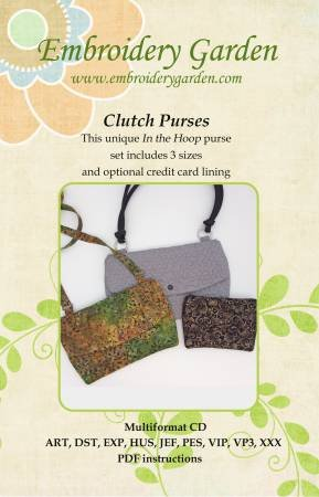 Embroidery Garden Clutch Purses