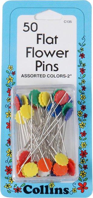 Flower head Pin50 ct.