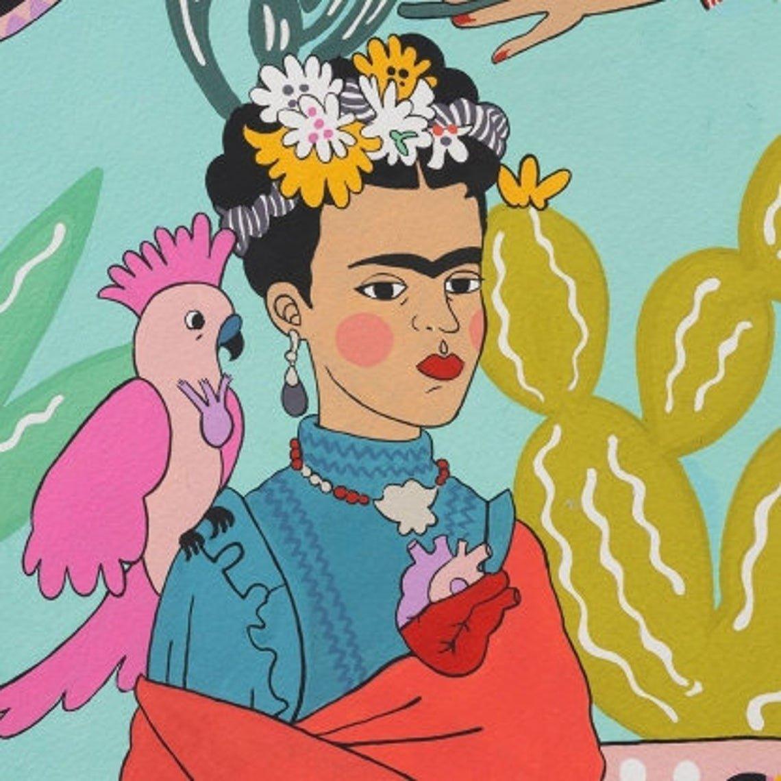 AH Frida Con Las Plumas Aqua