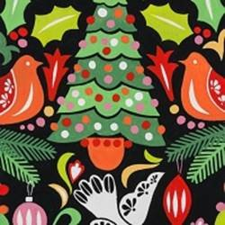 Alexander Henry - Paloma Navidad/Black/Multi 8754/B