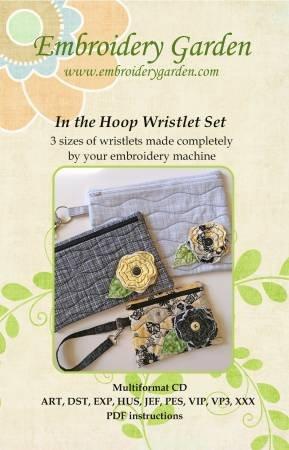 Embroidery Garden In the Hoop Wristlet Set