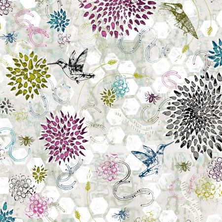 RJR Pollinator Dance - Gray Mist