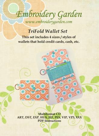 Embroidery Garden - TriFold Wallet Set