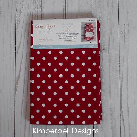 Kimberbell Polka Dot Red Tea Towels