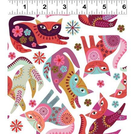Clothworks Stitch Cats Y2580-1