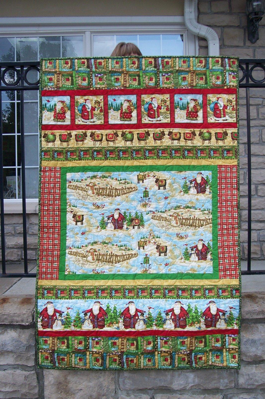 Santa's Journey Strip Quilt