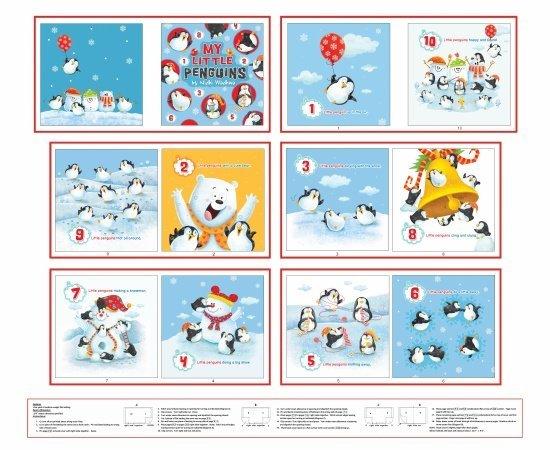 White/Multi Penguin Parade Book Panel