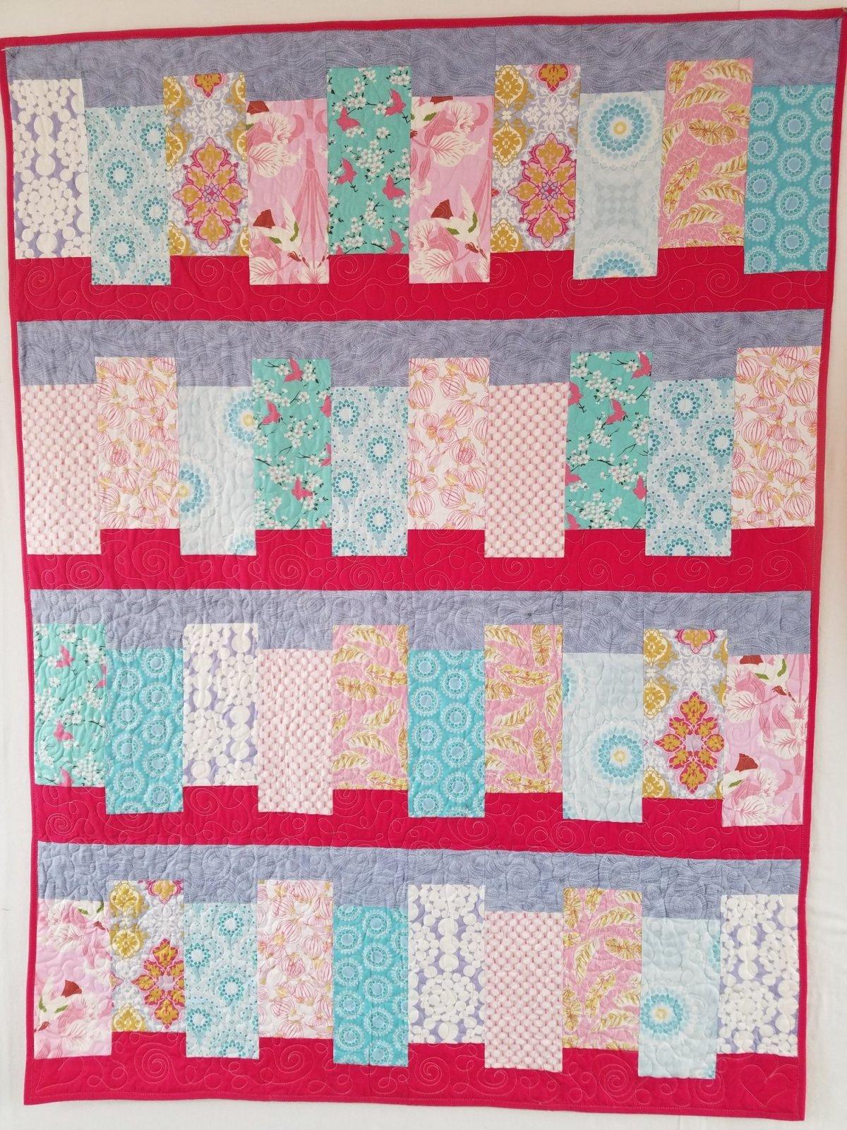 Pink Portlandia Quilt 44x59