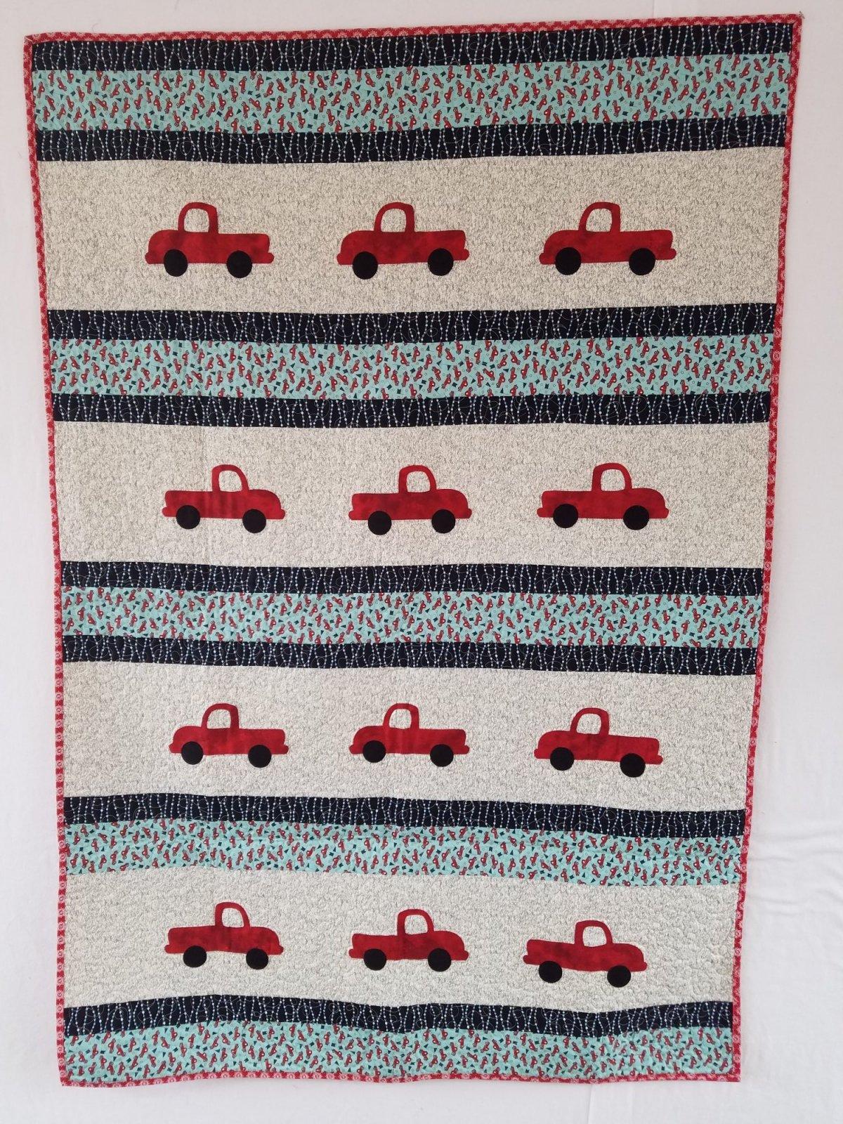 Just Truckin' Quilt 40 1/2 x 60