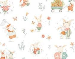 Bunny Tales Flannel Allover 3551-12