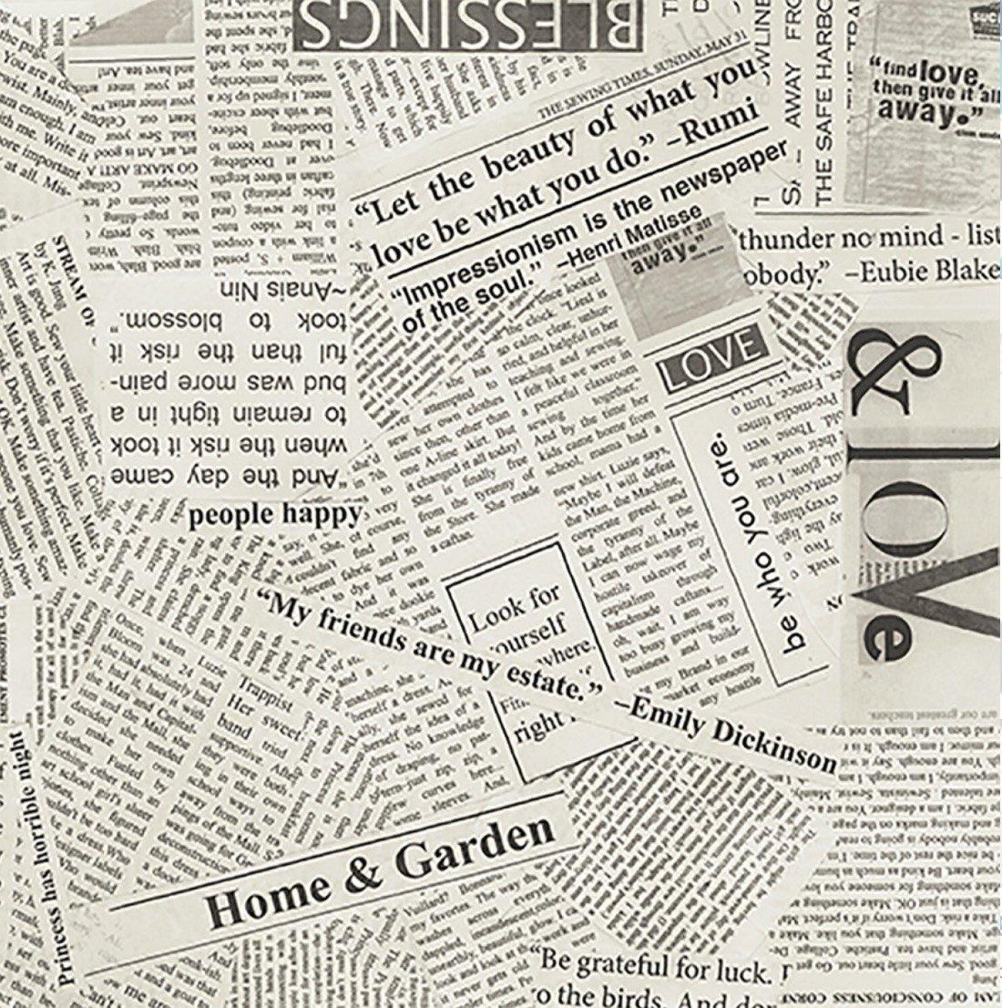 108 Quilt Back Newsprint
