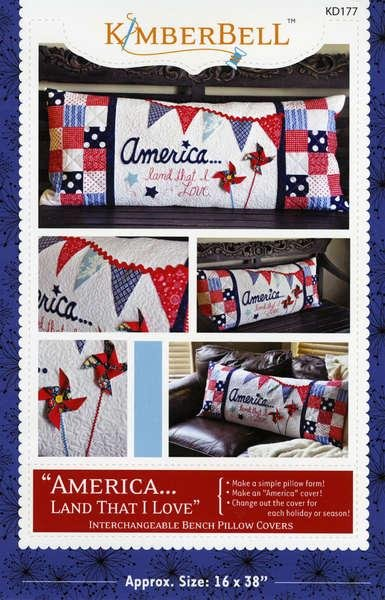 America Land That I Love Bench Pillow