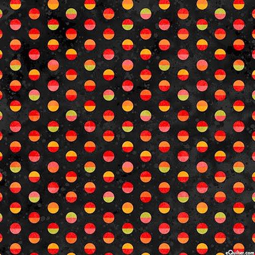 Full Bloom Dots on Black