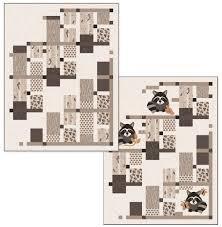 Raccoon Playground Version 1 Quilt Kit