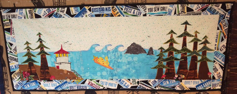 2015 Row By Row Kit Rabbit Surfing Bunny