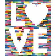 Scrappy Kind of Love Quilt Kit (74x90)