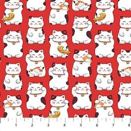 Sushi Lucky Cat Red