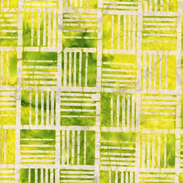 Island Batik Land Chartreuse