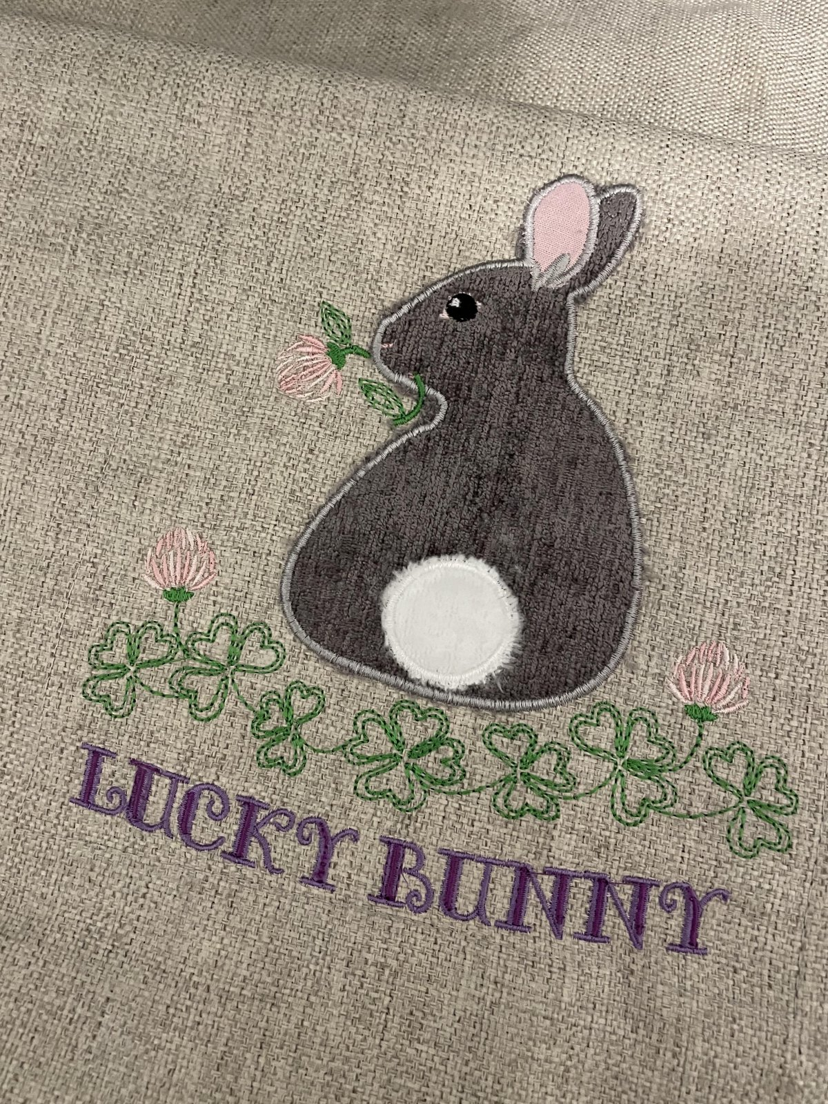 In the hoop embroidery design - Lucky Bunny