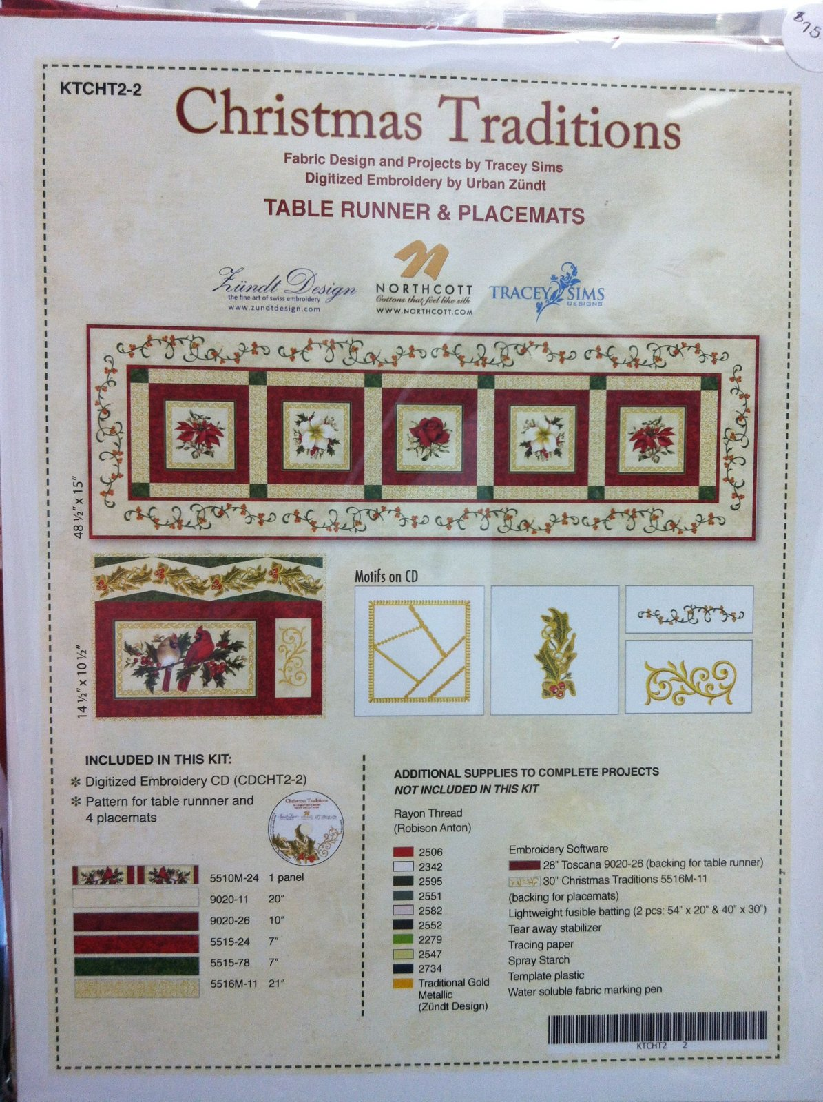 Christmas Traditions Kit Machine Embroidery