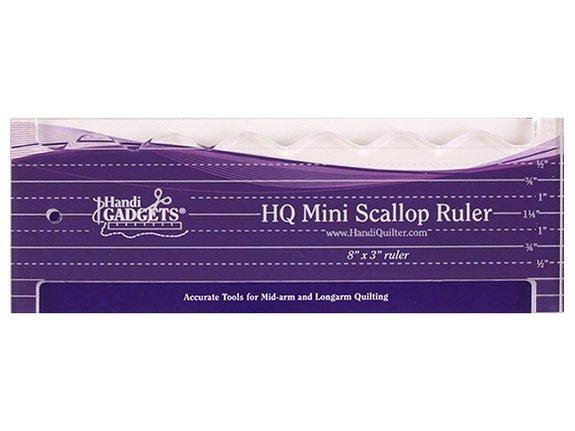 Mini Scallop Ruler   8x3 inch