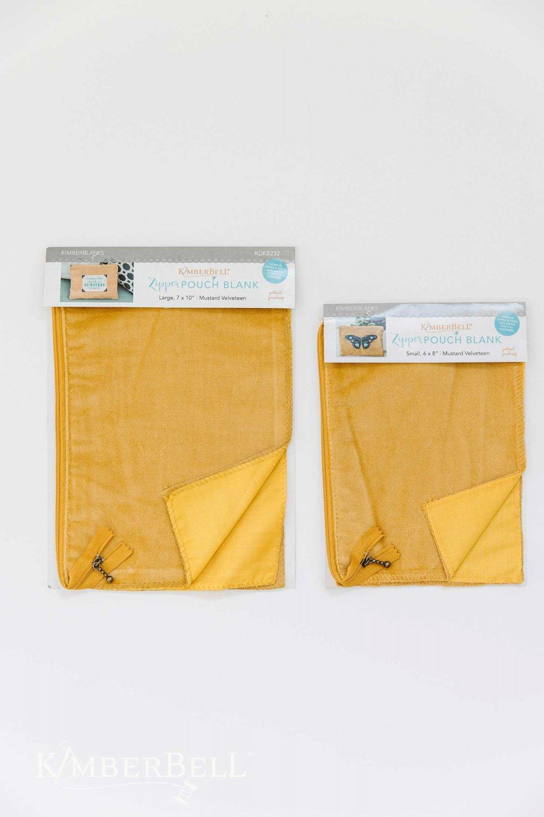 Velveteen Zipper Pouch Blank - Mustard
