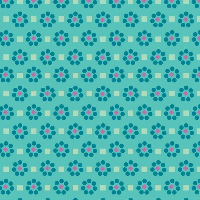 Gigi Blooms Daisy Dots Lagoon 00630