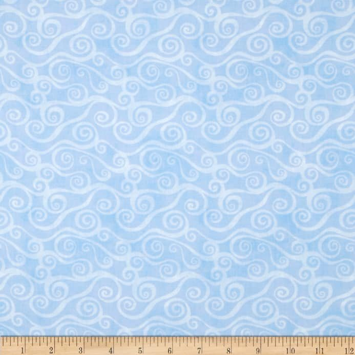 Essentials Swirly Scroll Sky Blue 39081400