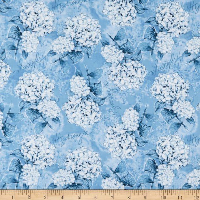 Hydrangea Dreams Tossed Hydrangeas Blue 96438-444