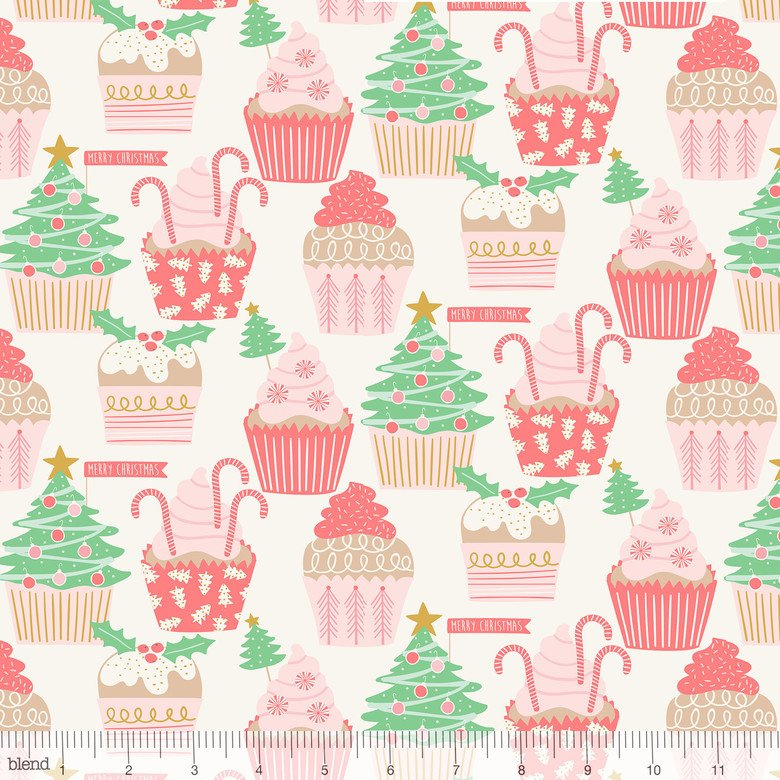 Kringle Sweet Shop Christmas Cupcakes Ivory 101.114.04.1
