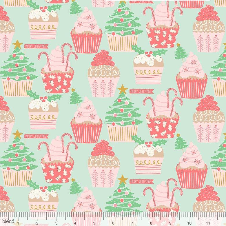 Kringle Sweet Shop Christmas Cupcakes Green 101.114.04.2