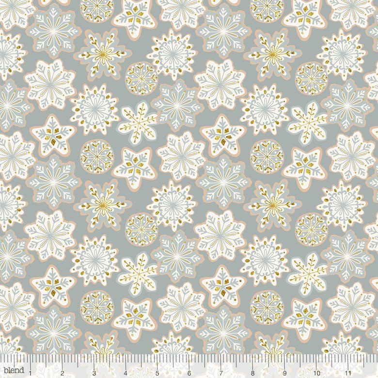 Kringle Sweet Shop Frosted Snowflakes Grey 101.114.05.1