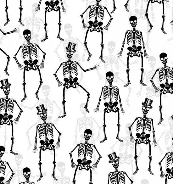 Fright Night Skeletons White 1108M-1