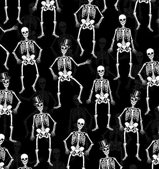 Fright Night Skeletons Black 1108M-99