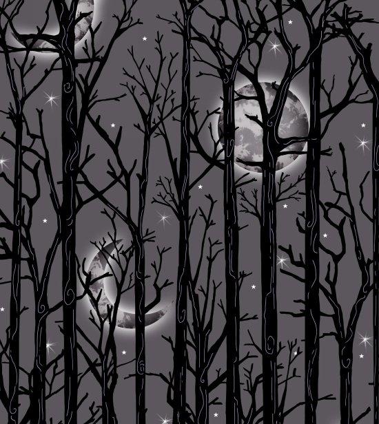 Fright Night Moonlit Trees Gray 1112M-90