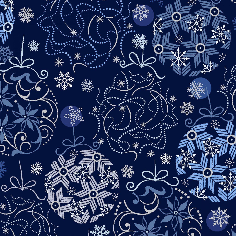 Blue Holidays Blue Ornaments W/Silver Metallic 11418-672201