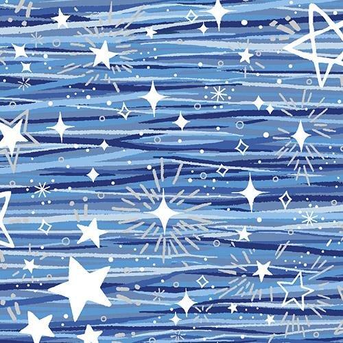 Blue Holidays Blue Stars W/Silver Metallic 11418-672331