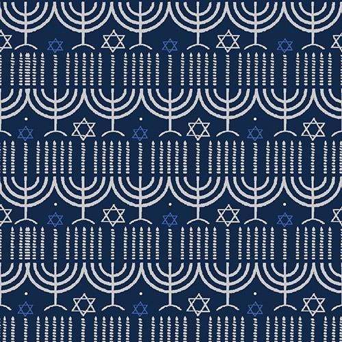 Blue Holidays Blue Hanukkah W/Silver Metallic 11418-672351