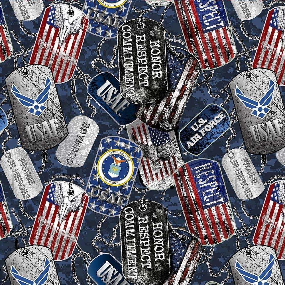 Military Air Force Dog Tags 1254 AF