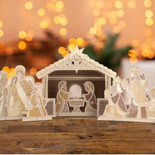 OESD Freestanding Nativity Scene Embroidery Pattern