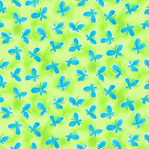 Whimsy Daisical - Butterflies Green