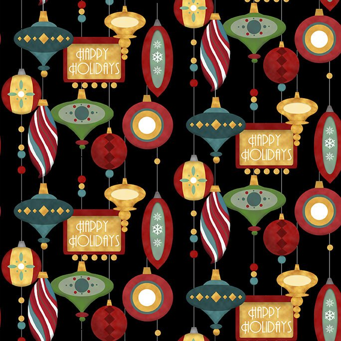 Jolly Ole Soul Retro Ornamnets 1659-99 Black