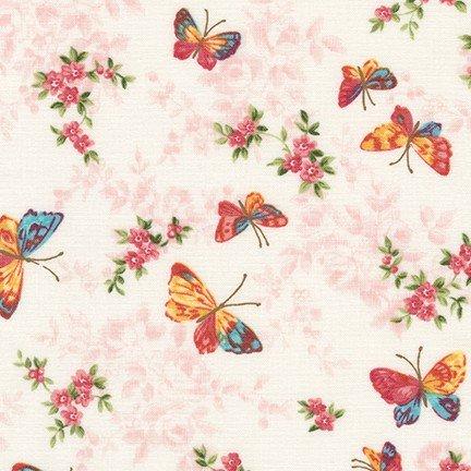 Lady Elizabeth Butterflies cream 16989-192